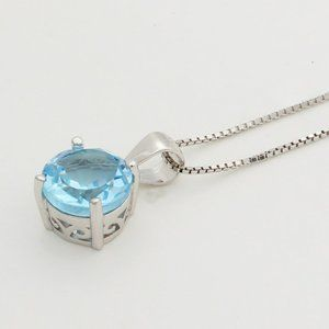 Jewelry - Silver Genuine Topaz s925 Necklace